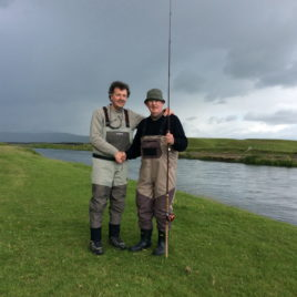 Richard & son David fishing in Iceland