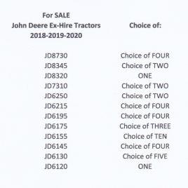 John Deere  SEPT 2021